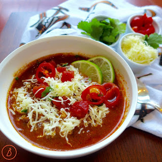 Slow Cooked Chicken Chili.
