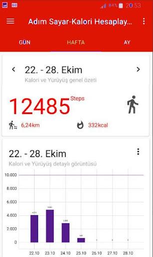 Walking and Counting Calories Step screenshot 2