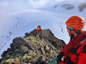 Photo: Arrivée à la première antécime lors de l'ascension du Phillipsfjellet