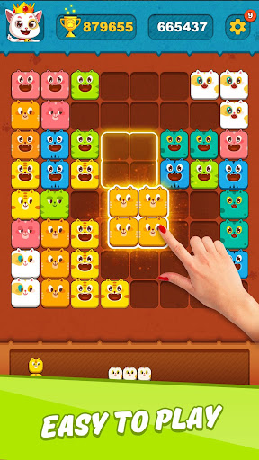 Block Crushu2122 - Cute Kitty Puzzle Game android2mod screenshots 4