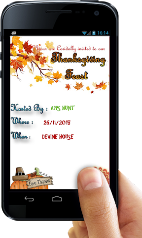 android Thanksgiving Invitation Letter Screenshot 7