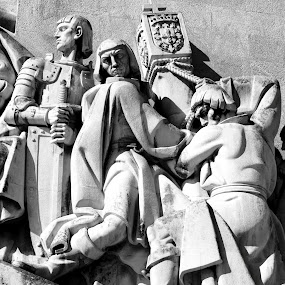 Rise up Portugal again! by Carlos Cardoso - Buildings & Architecture Statues & Monuments ( b&w, rise, belem, again, portugal, up )
