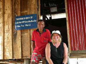 Photo: Pen Darin with Lisa from A Mine Free World Foundation