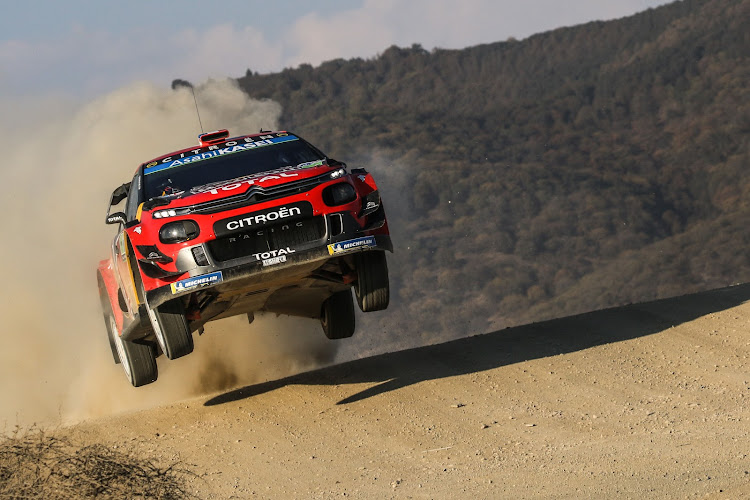 Sebastian Ogier flies his Citroen to victory in Mexico. Picture: REUTERS