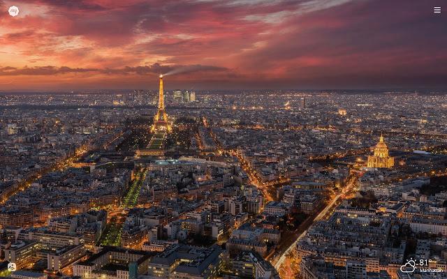 Paris At Night Hd Wallpapers New Tab Theme