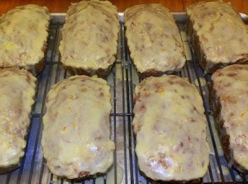 Cranberry Orange Glazed Bread Recipe