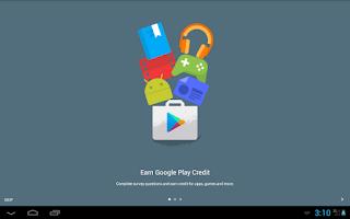 Screenshot of Google Opinion Rewards