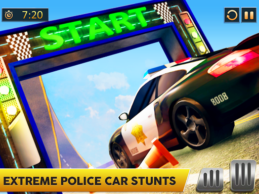 Ramp Police Car Stunts - New Car Racing Games screenshot 6