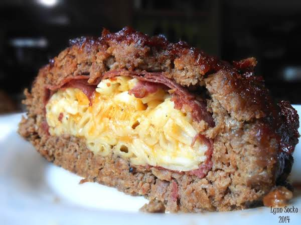 Mac & Cheese Stuffed Bbq Meatloaf Recipe