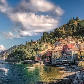 Varenna by Ole Steffensen - City,  Street & Park  Vistas ( como lake, lago di como, italia, town, waterscape, varenna, shore, boats, italy, architecture )