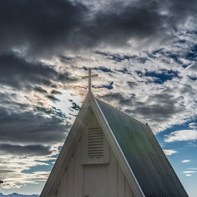 Nøss cemetery by Benny Høynes - Buildings & Architecture Other Exteriors ( clouds, andøya, cemetery, norway, graveyard )