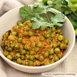Green Pea Curry With Masala Paste