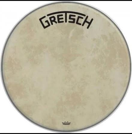 """18"""" Gretsch Frontskinn - Fiberskyn Broadkaster Logo - GRDHFS18B"""