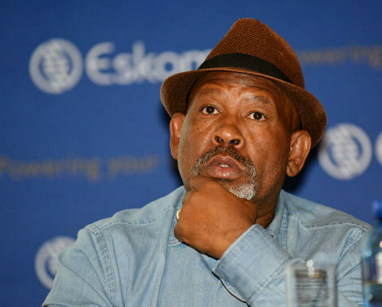 Jabu Mabuza Eskom Chairman at the company's results presentation at the MegaWatt Park Offices in Sunninghill