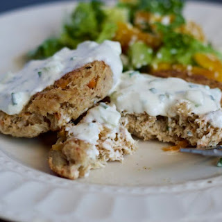 Crab Cakes With Lemon Yogurt And Cucumber Sauce