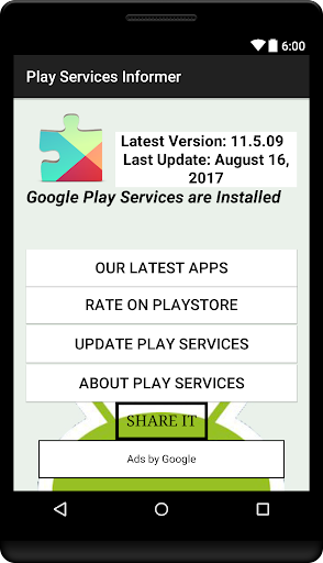 Play Services Informer screenshot 1