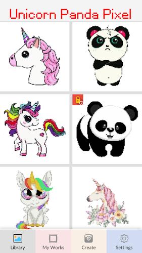 Indir Unicorn Panda Pixel Art Number Coloring Books Apk Son