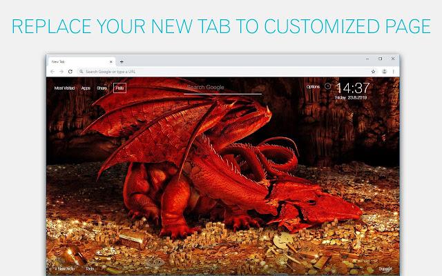 Dragon Wallpaper HD Custom New Tab