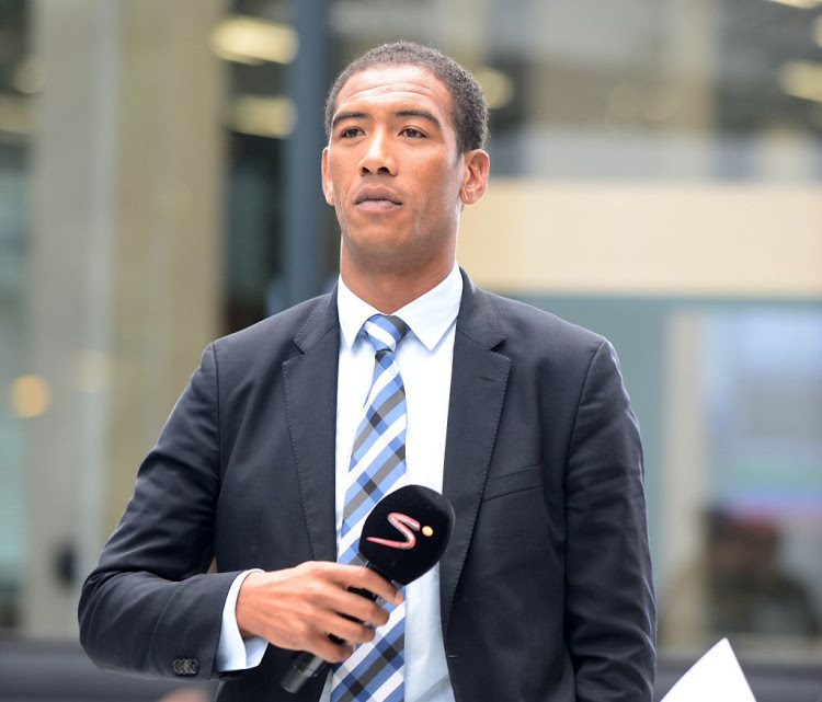 Ashwin Willemse during a Super Rugby event at SuperSport studios on February 22, 2017 in Johannesburg, South Africa.
