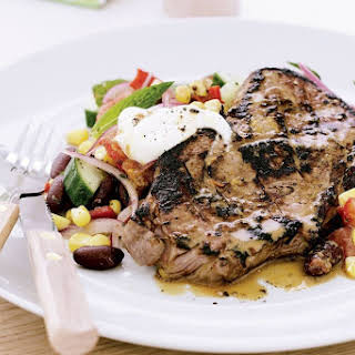 Cajun Steak With Succotash Salad.