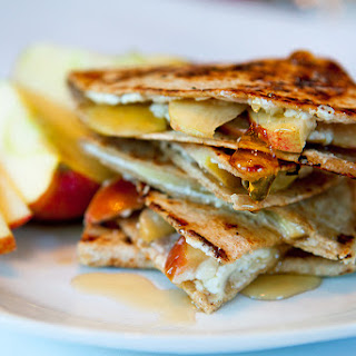 Apple, Goat Cheese and Honey Quesadilla