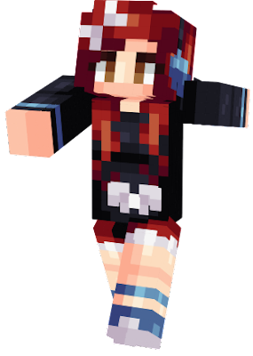 My own personal skin on Minecraft. Please do not use it without my permission, thank you. ;3