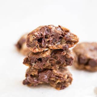Flourless Almond Butter Chocolate Chip Cookies.
