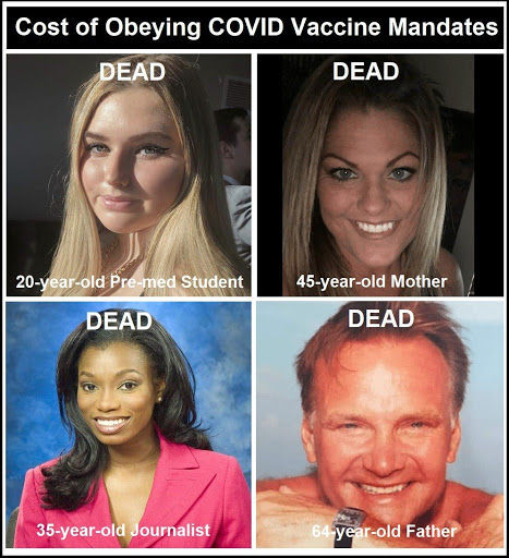 """Comply with COVID-19 """"Vaccination"""" Demands and You Could End up DEAD Like These People"""
