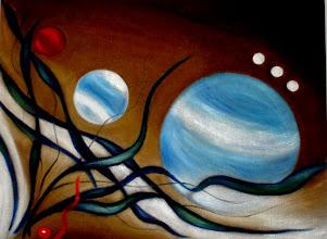 Photo: 321,3, Нетронина Наталья, Фрагмент тетраптих Круговор чувств (4), Масло, бархат (живопись по бархату), 40х30см,