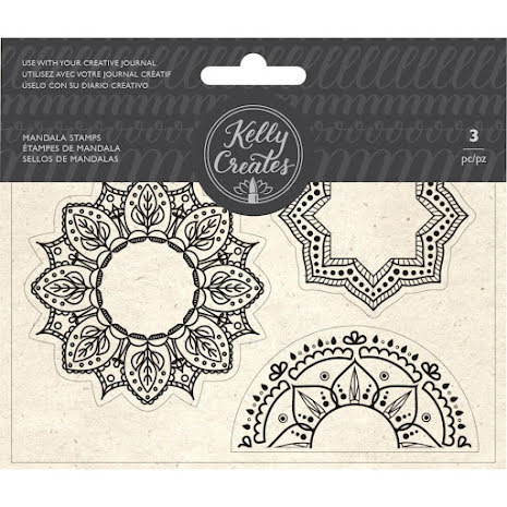 Kelly Creates Acrylic Traceable Stamps - Mandala