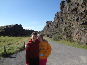 Photo: A rift valley has formed due to the continental drift between the North American and Eurasian Plates which meet here