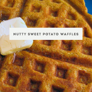 Nutty Sweet Potato Waffles for #SundaySupper