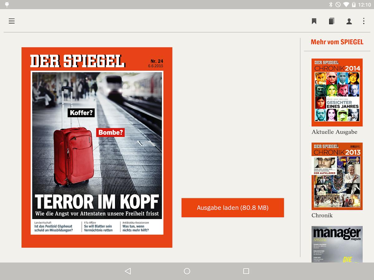 DER SPIEGEL – Screenshot