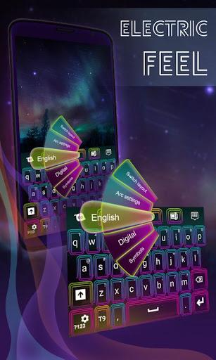 电动感觉霓虹灯键盘