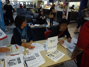 Photo: Day 2 - registration begins!