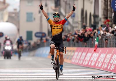 """Ritwinnaar Tratnik wist niet met wie hij moest afrekenen in de Giro: """"Toen ik vriendin zag staan, kreeg ik extra energie"""""""