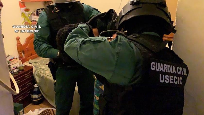 Detención de los miembros del grupo criminal.