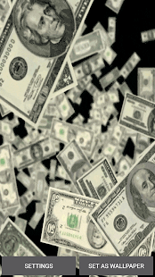 Falling Money Live Wallpaper APK for iPhone
