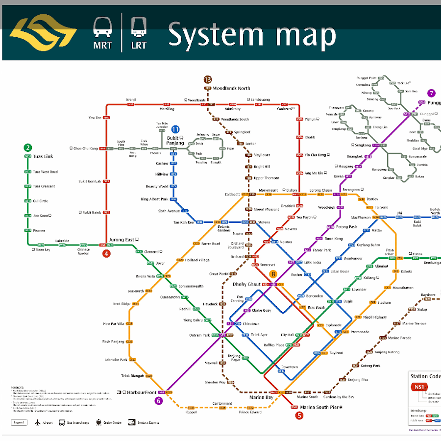 Singapore Metro Map Mrt And Lrt Train Map 2017 Android