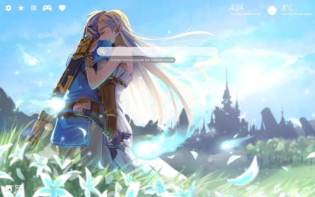 Zelda HD Wallpaper Chrome Theme