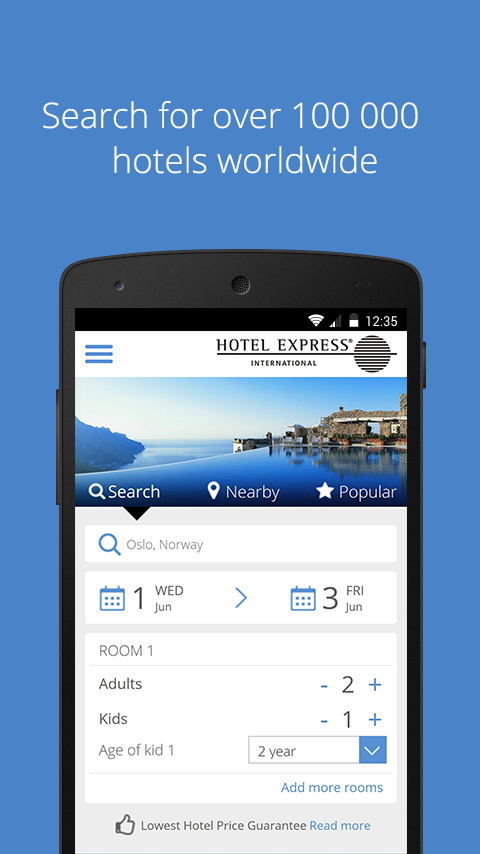 HEI Online Hotel Reservations- screenshot