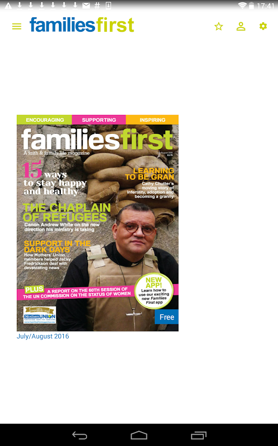 Families First magazine- screenshot