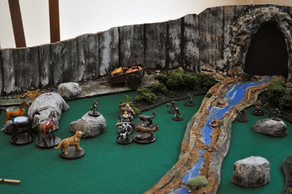 Attacked by wolves and goblins