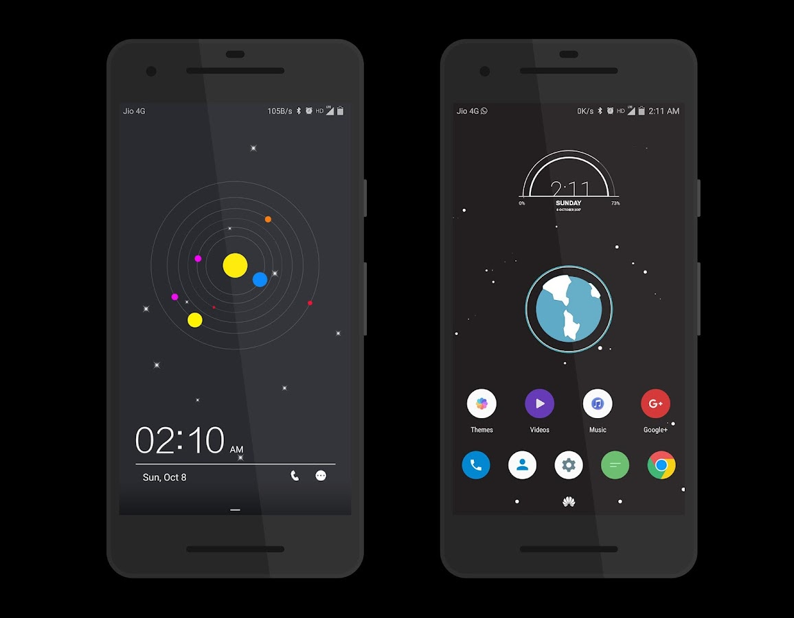 Cosmic Dark EMUI 5 Theme- screenshot