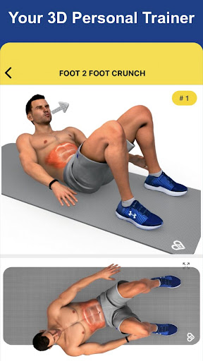 8 Minutes Abs Workout screenshot 3