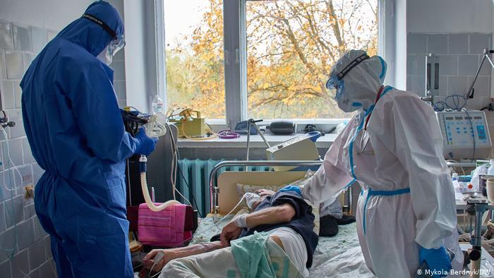 Пацієнти з COVID в місті Любар на Житомирщині