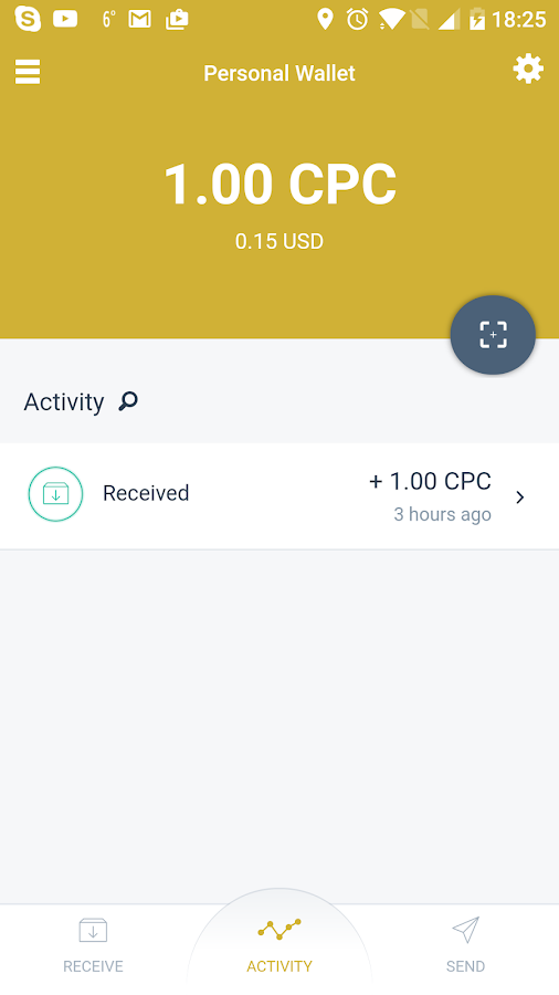 Capricoin Mobile Wallet- screenshot