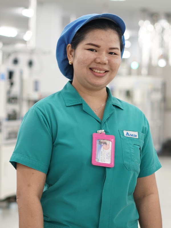 Female worker in a Bangkok, Thailand facility