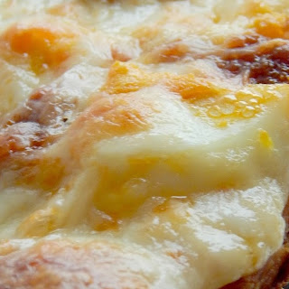 Chopped Egg & Chorizo Breakfast Pizza.