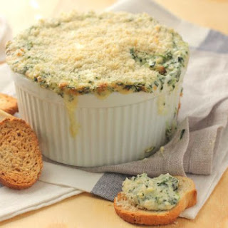 Spinach Artichoke and Crab Dip.